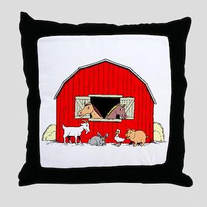 Barn Animals Throw Pillow