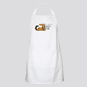 All I Need Is Coffee And MyDog Light Apron