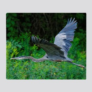 GREAT BLUE HERON Throw Blanket
