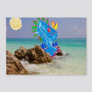 Julia's Beach Dragon 5'x7'Area Rug