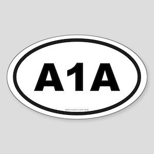 Florida A1A Oval Sticker