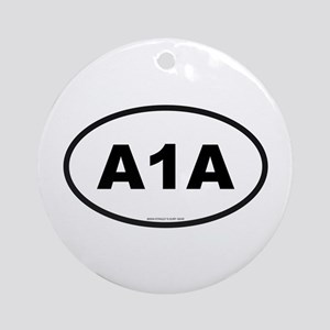Florida A1A Ornament (Round)