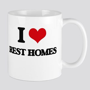 I Love Rest Homes Mugs