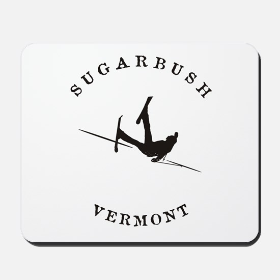 Sugarbush Vermont Funny Falling Skier Mousepad