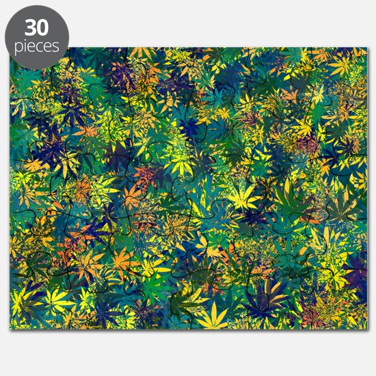 Abstract Leaf Pattern Puzzle