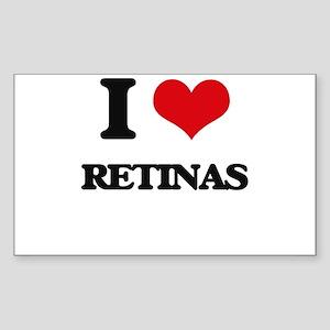 I Love Retinas Sticker