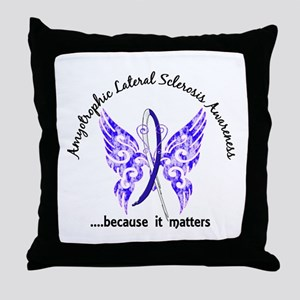 ALS Butterfly 6.1 Throw Pillow