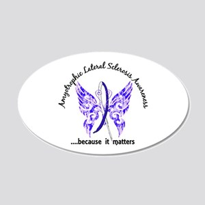 ALS Butterfly 6.1 20x12 Oval Wall Decal