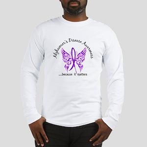 Alzheimer's Disease Butterfly Long Sleeve T-Shirt