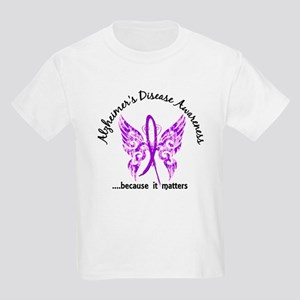 Alzheimer's Disease Butterfly 6 Kids Light T-Shirt