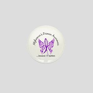 Alzheimer's Disease Butterfly 6.1 Mini Button