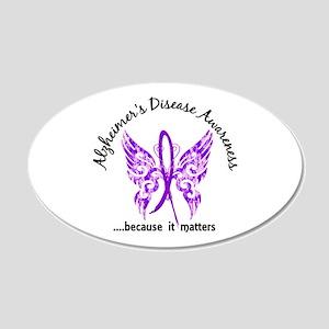 Alzheimer's Disease Butterfl 20x12 Oval Wall Decal