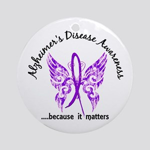 Alzheimer's Disease Butterfly 6.1 Ornament (Round)