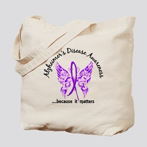 Alzheimer's Disease Butterfly 6.1 Tote Bag
