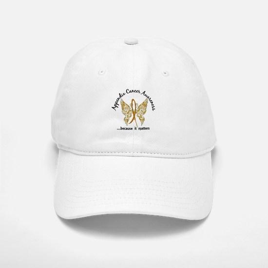 Appendix Cancer Butterfly 6.1 Baseball Baseball Cap