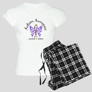 Autism Butterfly 6.1 Women's Light Pajamas