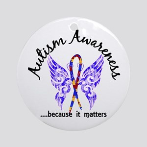 Autism Butterfly 6.1 Ornament (Round)