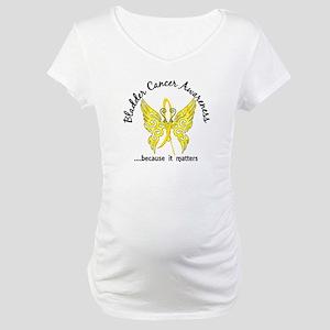 Bladder Cancer Butterfly 6.1 Maternity T-Shirt