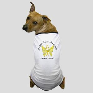 Bladder Cancer Butterfly 6.1 Dog T-Shirt