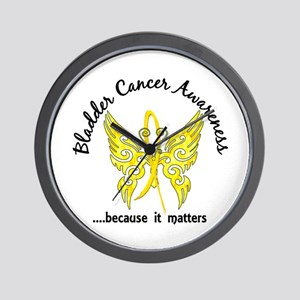 Bladder Cancer Butterfly 6.1 Wall Clock
