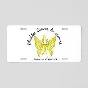 Bladder Cancer Butterfly 6. Aluminum License Plate