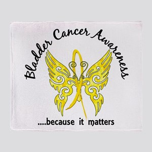 Bladder Cancer Butterfly 6.1 Throw Blanket