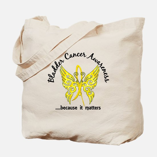 Bladder Cancer Butterfly 6.1 Tote Bag