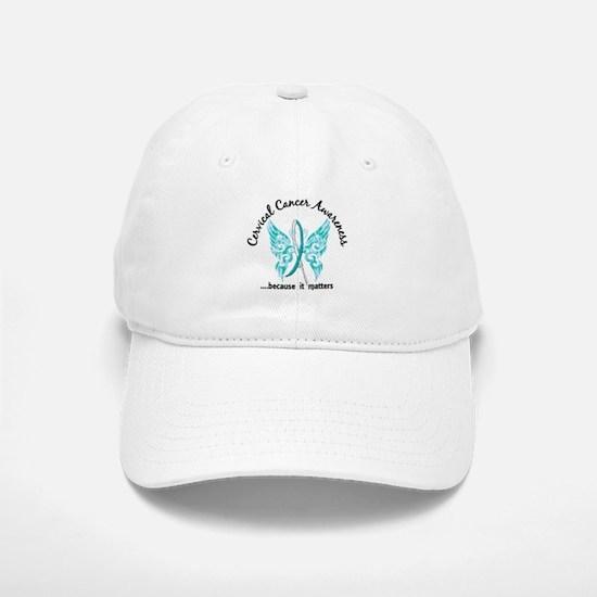 Cervical Cancer Butterfly 6.1 Baseball Baseball Cap