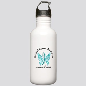 Cervical Cancer Butter Stainless Water Bottle 1.0L