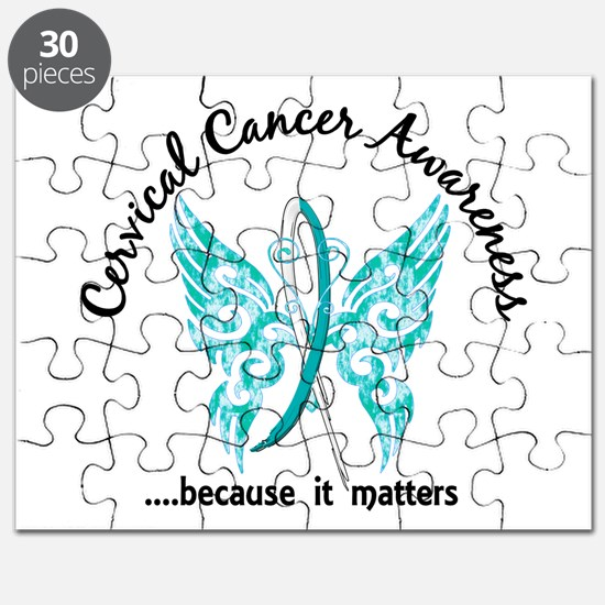 Cervical Cancer Butterfly 6.1 Puzzle