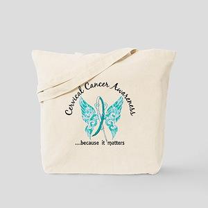 Cervical Cancer Butterfly 6.1 Tote Bag