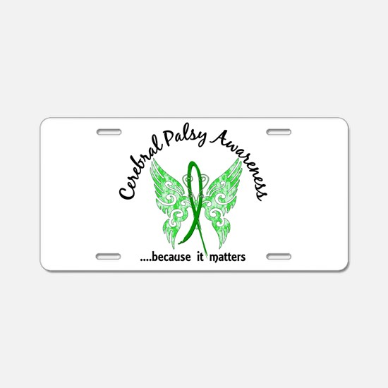 Cerebral Palsy Butterfly 6. Aluminum License Plate