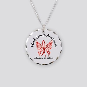 Blood Cancer Butterfly 6.1 Necklace Circle Charm