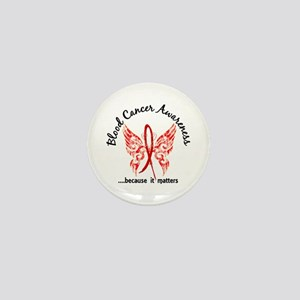 Blood Cancer Butterfly 6.1 Mini Button