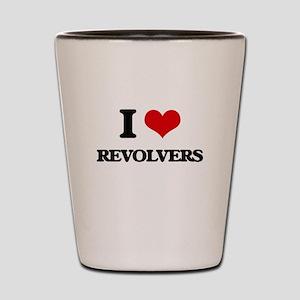 I Love Revolvers Shot Glass