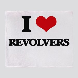 I Love Revolvers Throw Blanket