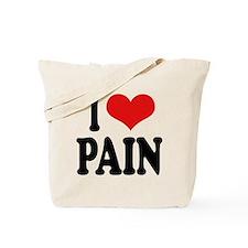 I Love Pain Tote Bag