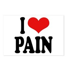 I Love Pain Postcards (Package of 8)