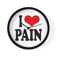 I Love Pain Wall Clock