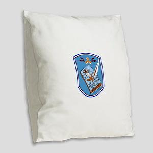 US NAVAL NUCLEAR POWER SCHOOL Burlap Throw Pillow