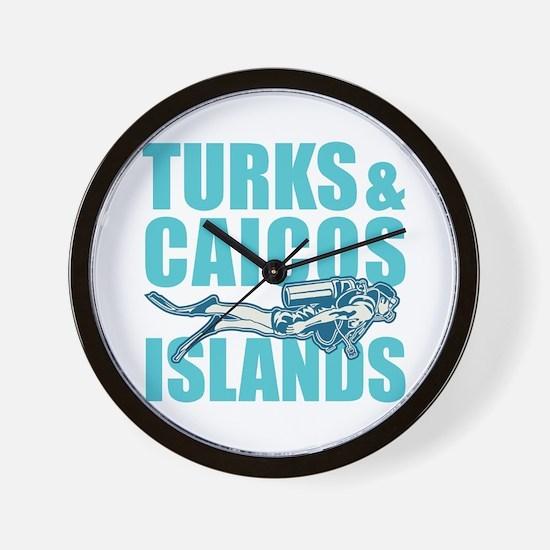 Turks and Caicos Islands - Scuba Wall Clock
