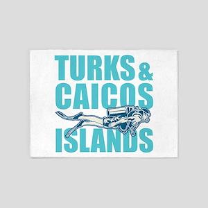 Turks and Caicos Islands - Scuba 5'x7'Area Rug