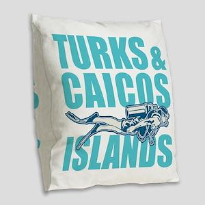 Turks and Caicos Islands - Scu Burlap Throw Pillow