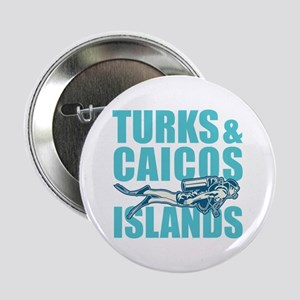 "Turks and Caicos Islands - Scuba 2.25"" Button"