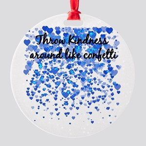 CONFETTI Round Ornament