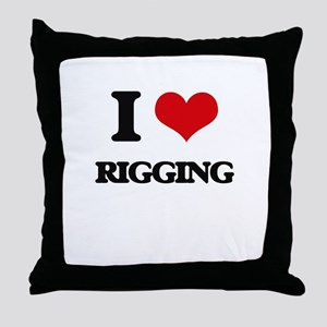 I Love Rigging Throw Pillow