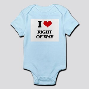 I Love Right Of Way Body Suit