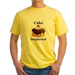 Cake Inspector Yellow T-Shirt