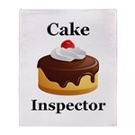 Cake Inspector Throw Blanket
