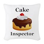 Cake Inspector Woven Throw Pillow